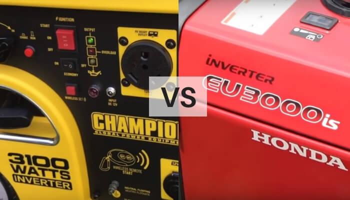 Champion 3100 vs Honda 3000